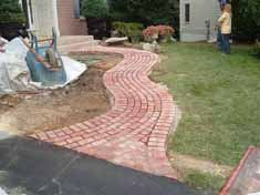 brick walkway