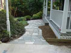 flagstone walkway